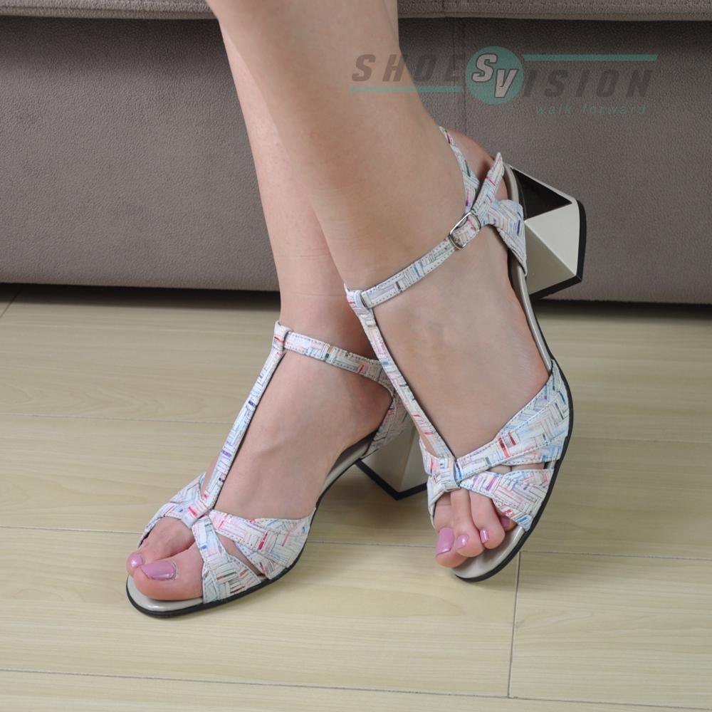 Sandale elegante cu toc - Sandale din piele 100% naturala